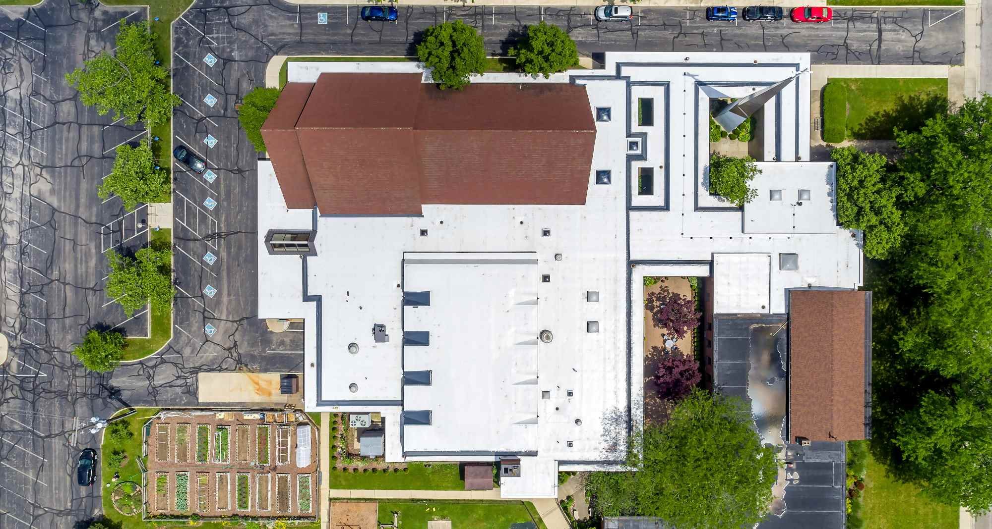 Aerial Photo of a Brown Roof Facility
